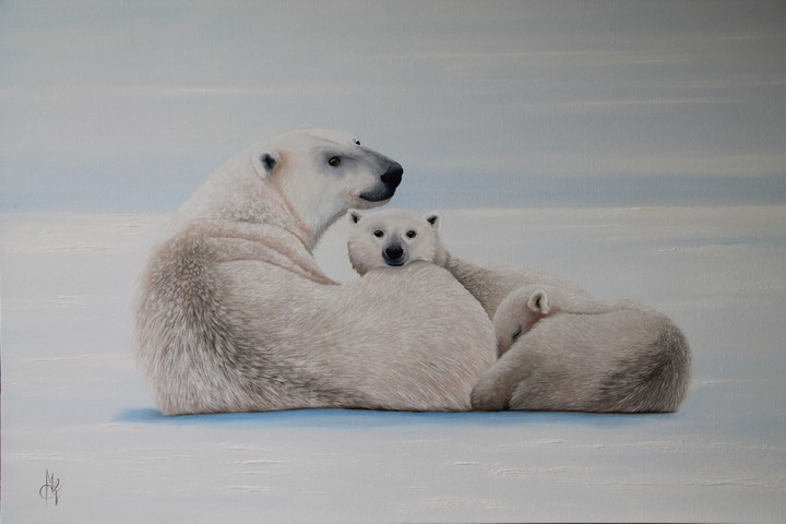 Artwork >> Chantal Rousselet >> The ice bear