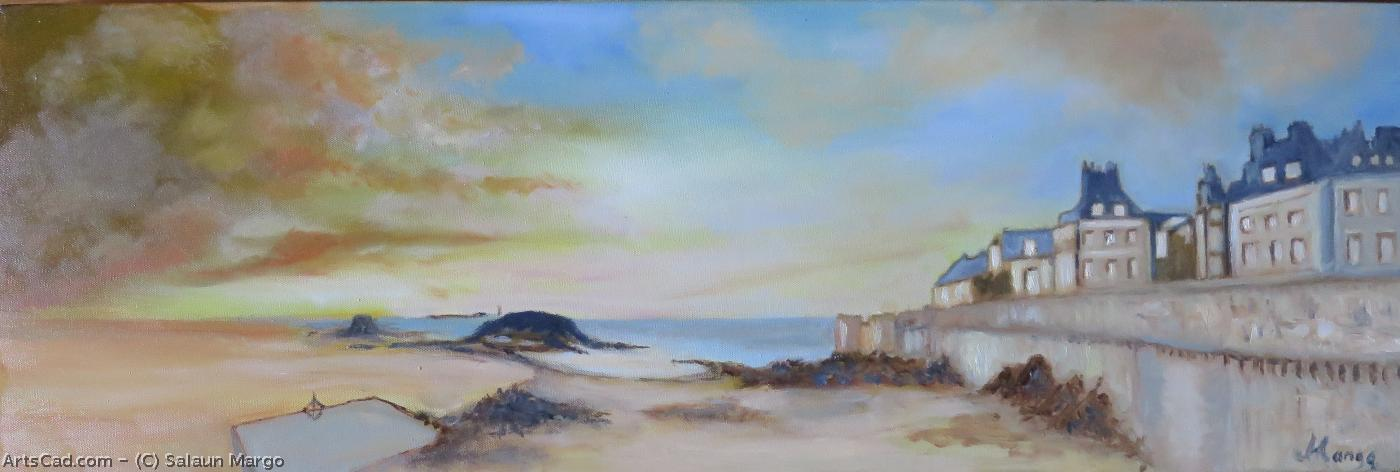 Artwork >> Salaun Margo >> The walls from st Malo