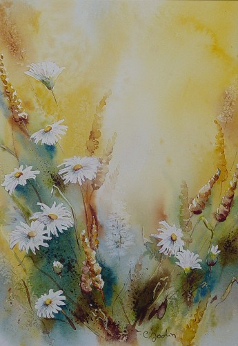 Artwork >> Chantal Jodin >> Queens Daisies golden