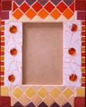Marie Christine Beaulande - picture frame mosaic of Africa