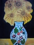 Marie Christine Legeay - VASE OF SUNFLOWERS - THE VASE OF SUNFLOWERS