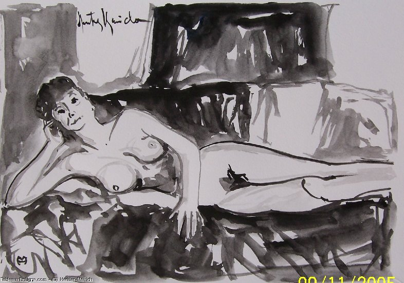 Artwork >> Heritier-Marrida >> study of nude