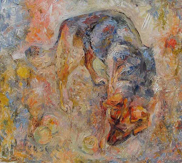 Artwork >> Michail Pugachev >> Playing dogs