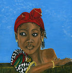 Vicki Branch Art - Tsizi Island Girl
