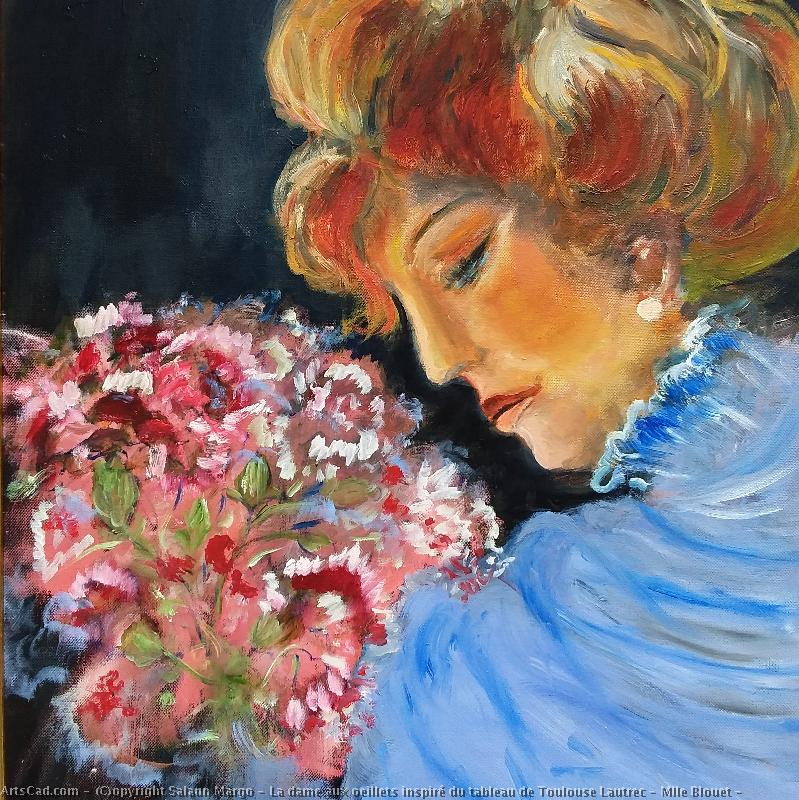 Artwork >> Salaun Margo >> The lady the carnations inspired table of toulouse lautrec