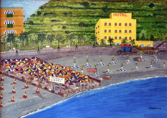 Artwork >> Erasmo Amato >> .. public beach in Italy ..