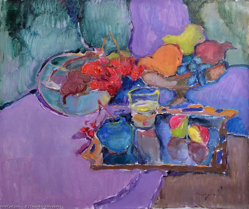 Artwork >> Shandor Alexander >> Still life with mirror