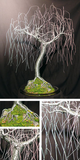 Artwork >> Sal Villano Wire Tree Sculpture >> Gentle Willow - wire tree sculpture, by Sal Villano
