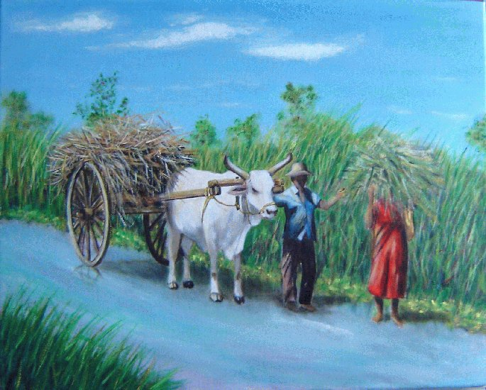 Artwork >> Danielle Lavorel >> zebu cart