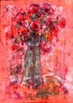 Baruch Neria-Kandel - flowers in red