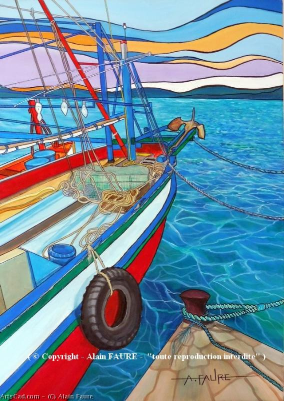 Artwork >> Alain Faure >> AT THE END OF THE QUAY , THE TRAWLER
