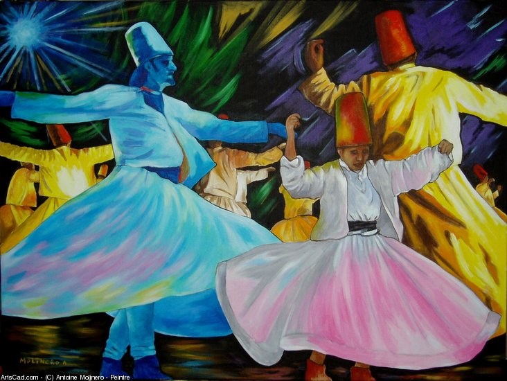 Artwork >> Antoine Molinero - Peintre >> Dervish