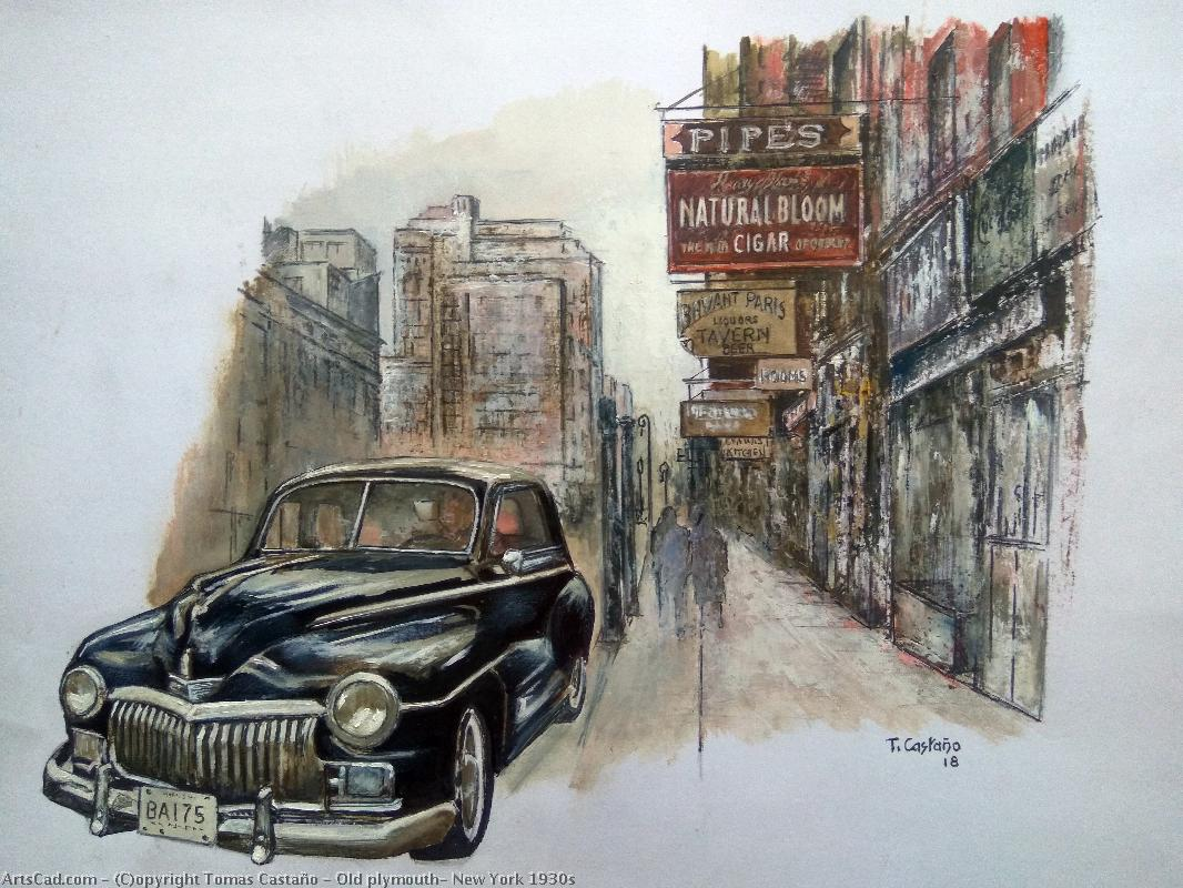 Artwork >> Tomas Castaño >> Old plymouth- new york 1930s