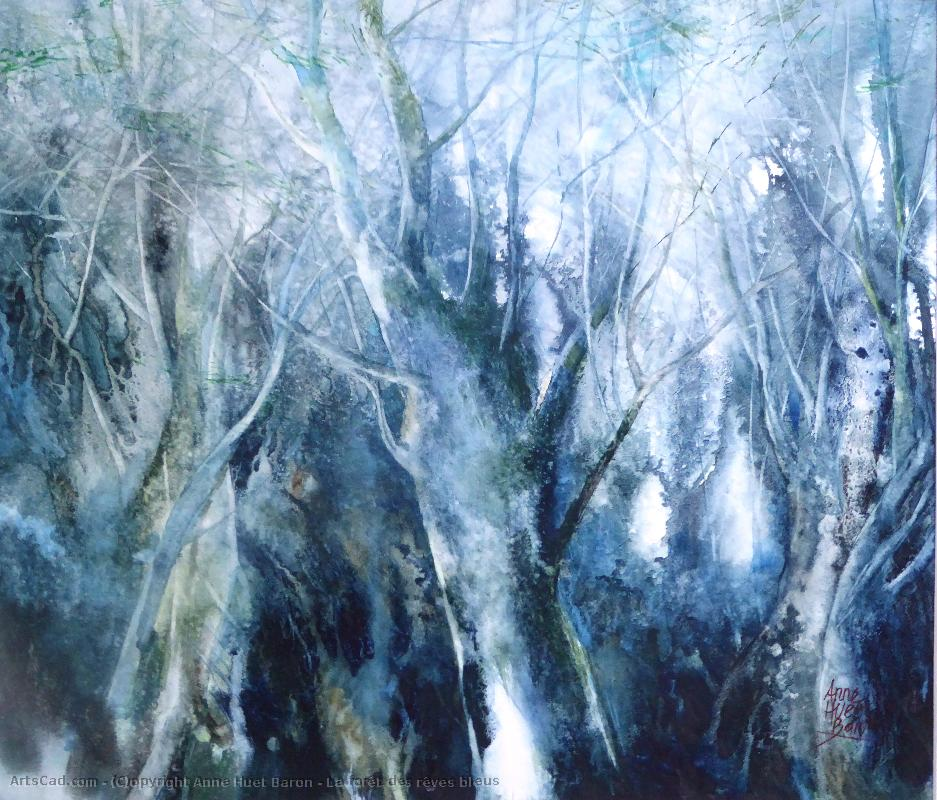 Artwork >> Anne Huet Baron >> The Forest of  Dreams  Blues