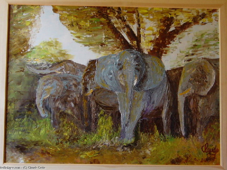 Artwork >> Claude Cette >> The elephants