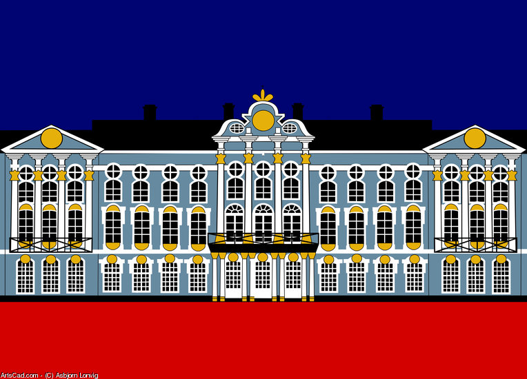 Artwork >> Asbjorn Lonvig >> Catherine's Palace Inspiration - Katharinenhof Inspiration - St Petersburg, Russia