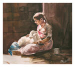 Classical Indian Art Gallery - CUDDLING THE CUTE