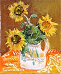 Chevassus-Agnes - three Sunflowers