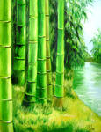 Zhen Lianxiu - bamboos by the river