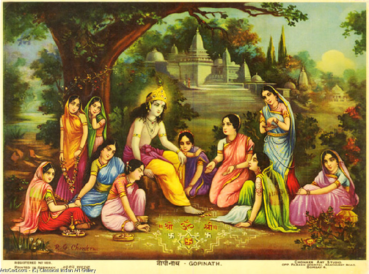 Artwork >> Classical Indian Art Gallery >> OLEOGRAPH PRINT by R.G. CHONKER