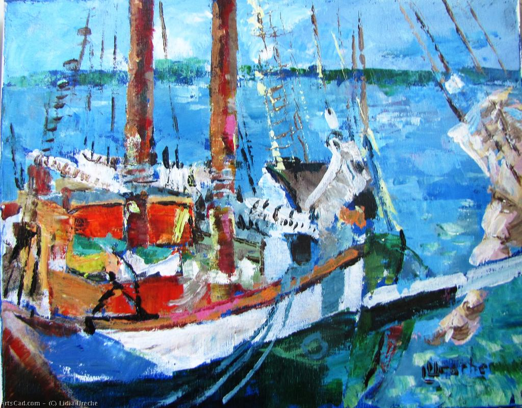 Artwork >> Lidia Ureche >> Sailboats at Sorel-Tracy III