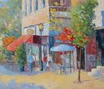 Jacques Fontan - side street on Prince  Arthur at  The Montreal