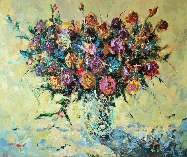 Artwork >> Vladimir Domnicev >> bouquet in the colors of my illusion