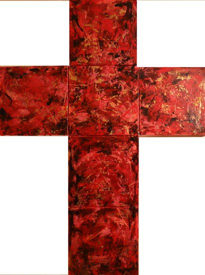 Artwork >> Pomo Galerie De Robinson >> crosses red