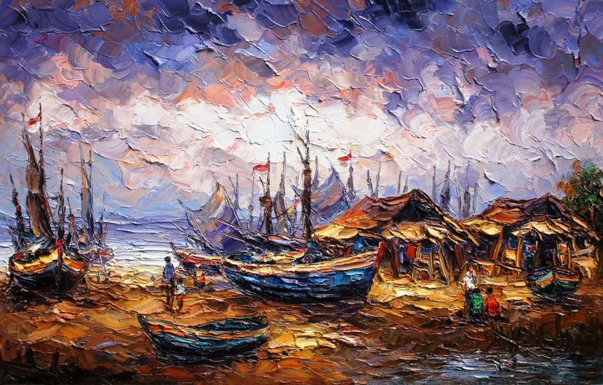 Artwork >> Asep Leoka >> Fishermen's Village
