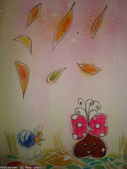 Artwork >> Rosy- Line >> Lace l'araignée and melody the little chestnut