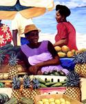 Antoine Molinero - Peintre - Caribbean - Triptych with 2 3