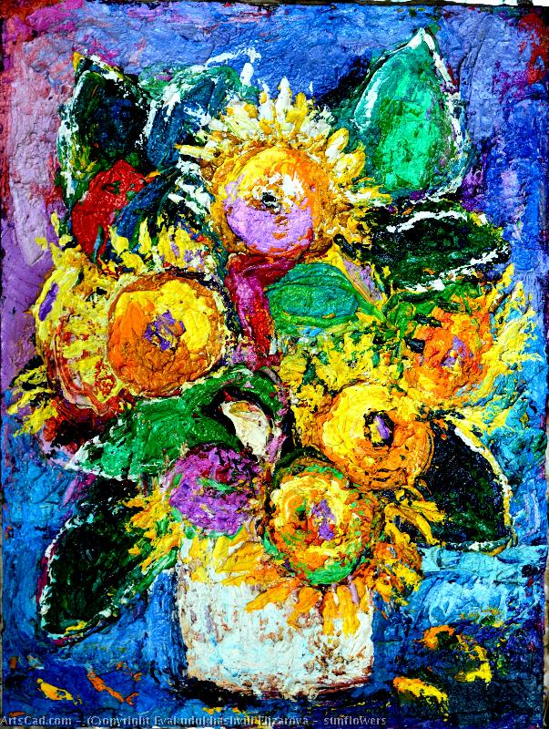Artwork >> Evakudukhashvili Elizarova >> sunflowers