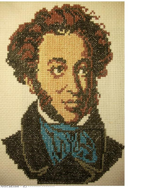 Artwork >> Валерий Пастель >> A From  PUSHKIN  embroidery  cross  W  I  KOKOREVA