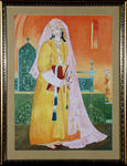 Classical Indian Art Gallery - LADY WITH BOOK