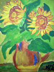 Marie Christine Legeay - BOUQUET OF SUNFLOWERS - SUNFLOWERS NOSEGAY