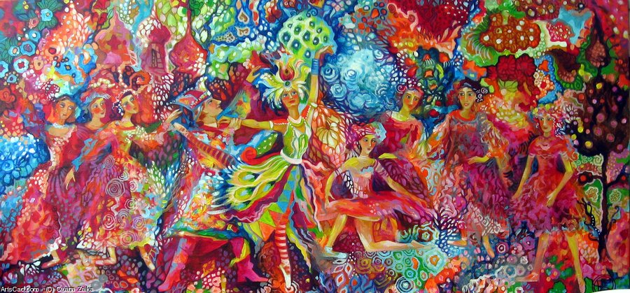 Artwork >> Oxana Zaika >> the russian seasons *L'Oiseau of fire */vendu