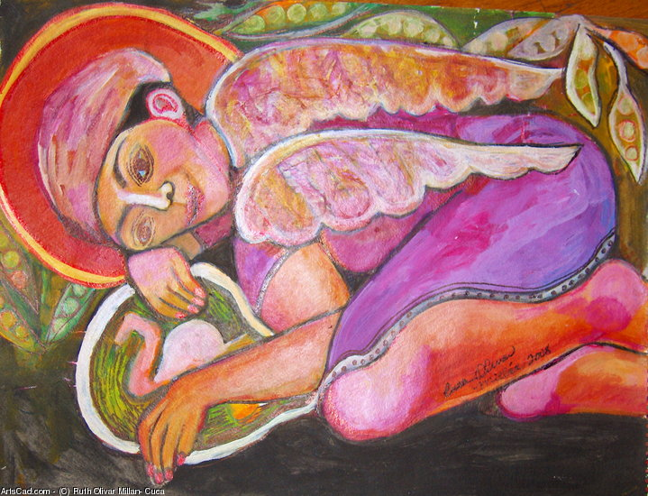 Artwork >> Ruth Olivar Millan - Cuca >> Angels
