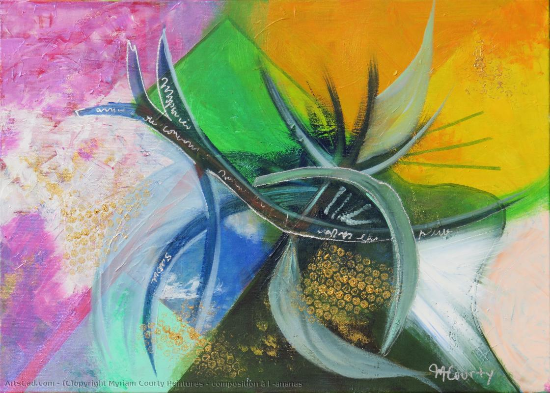 Artwork >> Myriam Courty Peintures >> composition at the 'ananas