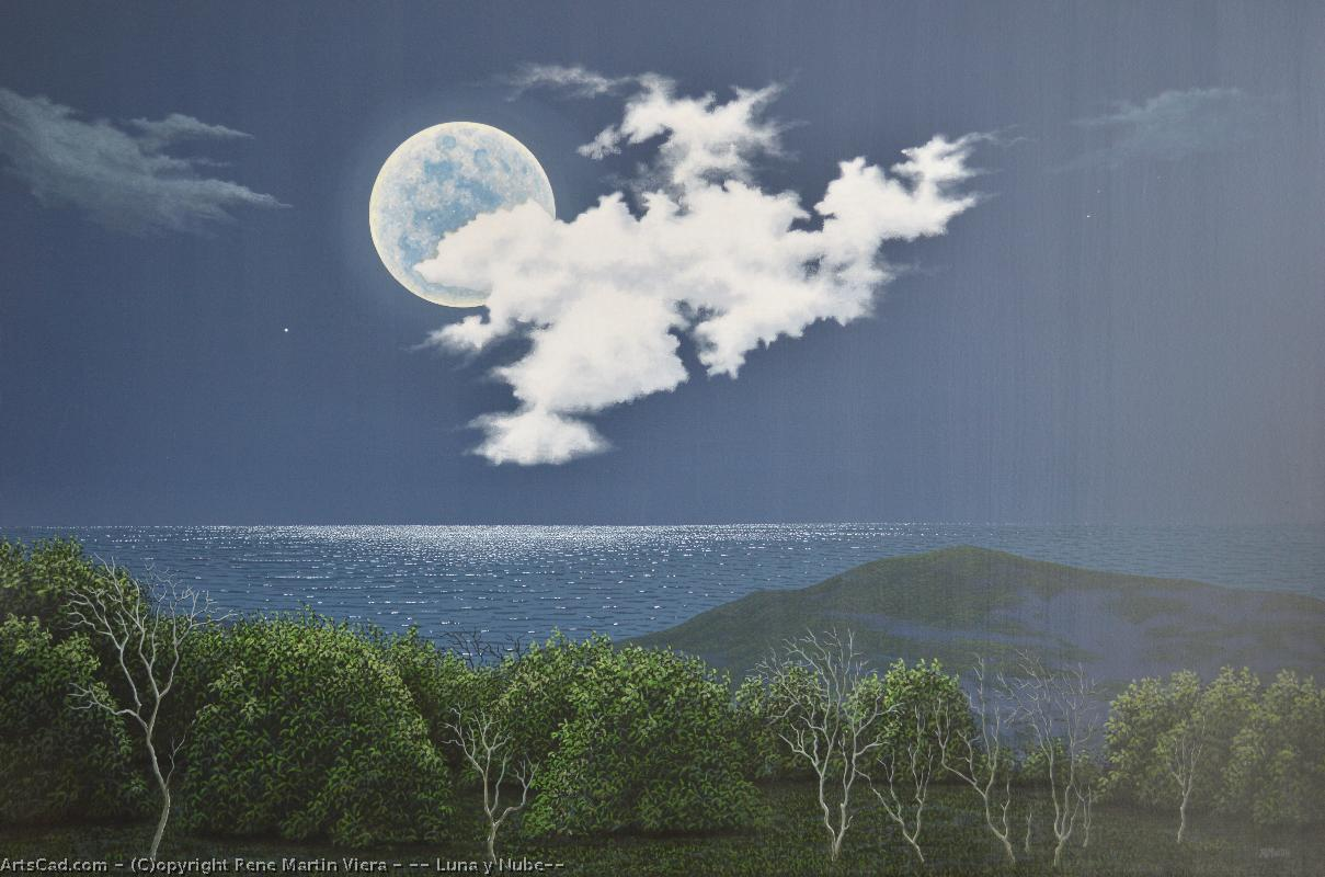 Artwork >> Rene Martin Viera >> '' Moon and Nube''