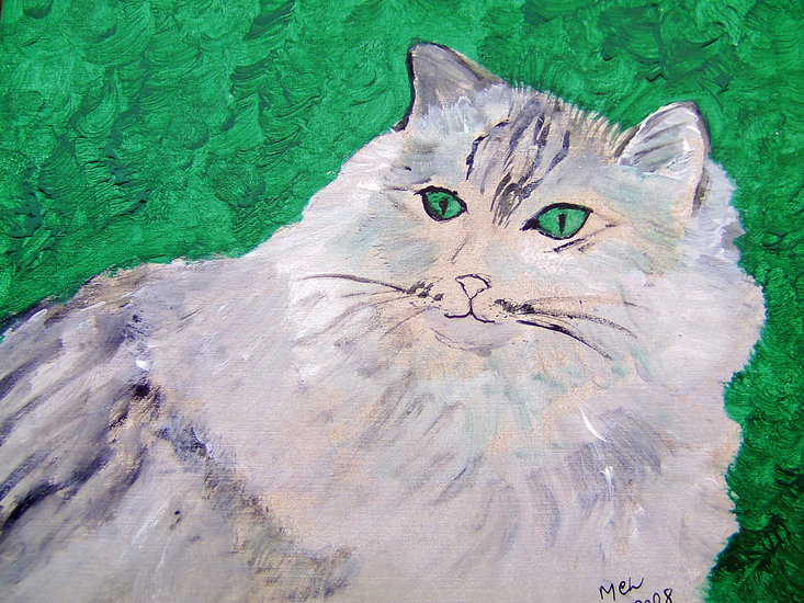 Artwork >> Marie Christine Legeay >> WHITE CAT