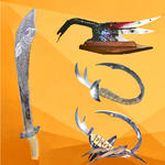 Sylvie-Shambhalla Claudepierre - The weapons  from  decoration  personalized