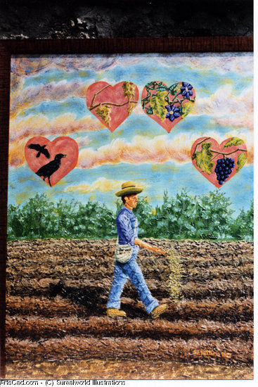 Artwork >> Surealworld Illustrations >> Sower And The Seed