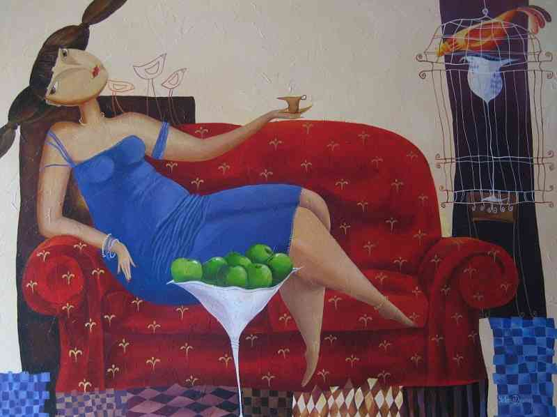 Artwork >> Yelena Dyumin >> Afternoon tea