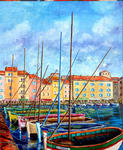 Yvon Mollaret - Saint Tropez, the old port