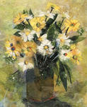 Nira Schwartz - Flowers in White and Yellow
