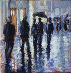Pierre Vanmansart - - Evening of rain , prague d-Esquermoise , Lille -