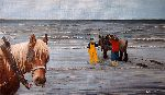 Marie-Mathilde Dumont - Oostduinkerke and there fishing equine