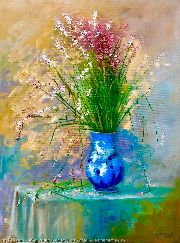 Artwork >> Galerie D Art Zneidi >> The Bouquet NZ10