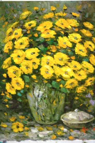 Artwork >> Lukisan Agus >> Yellow Flower Composition