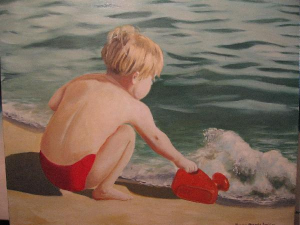 Artwork >> Xavier Alzuria Alzuria >> The Kid up and  there  Sea in